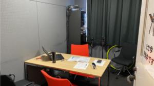 岩瀬病院のラジオ録音室